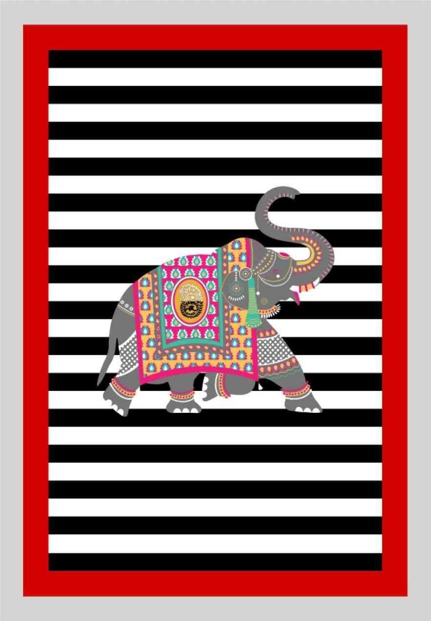 Elephant Kırmızı Yıkanabilir Halı