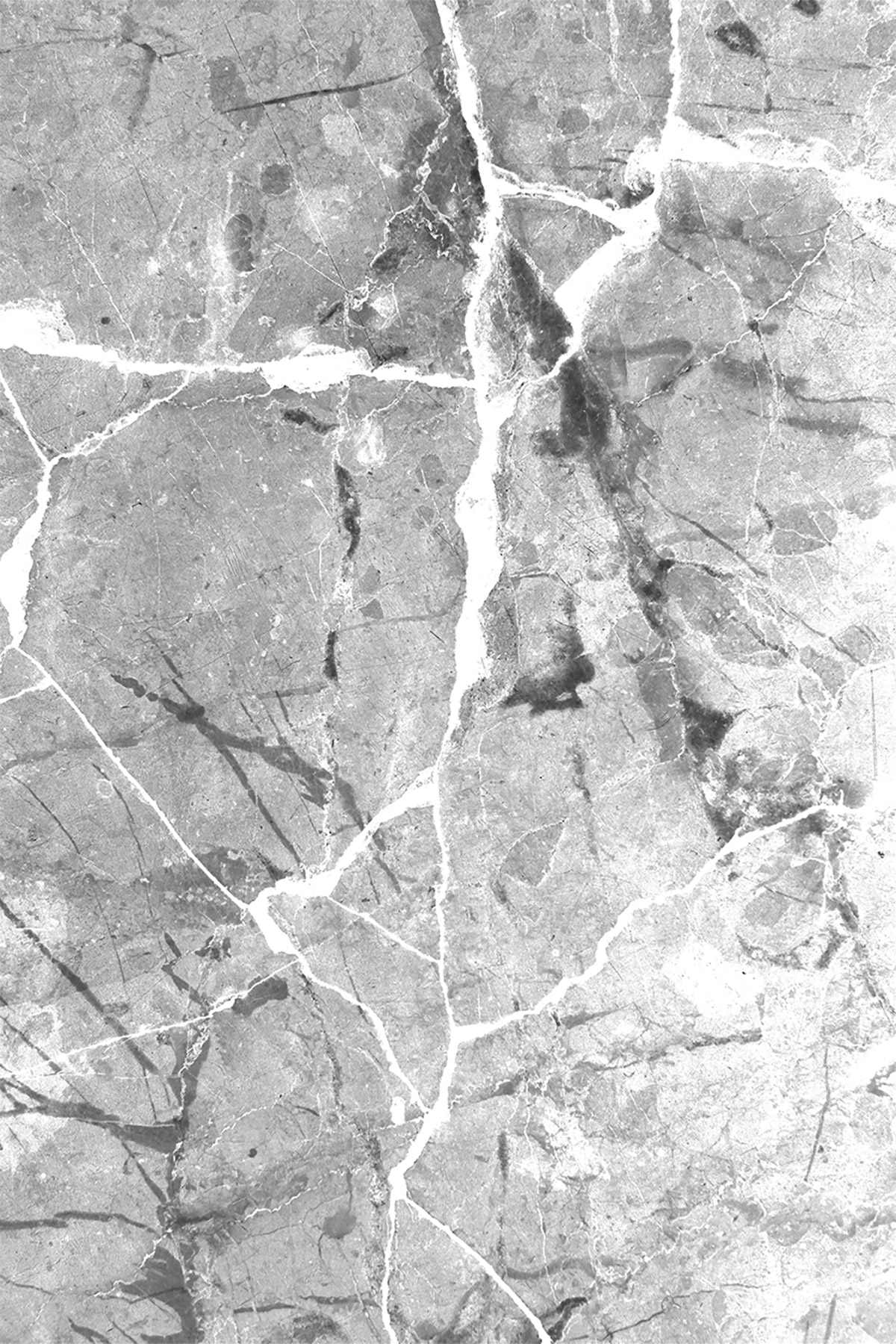 Granit Desen Gri Yıkanabilir Halı