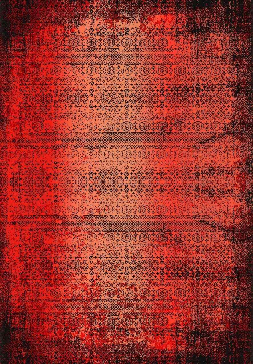 Mistik Kırmızı Bambu Yıkanabilir Halı