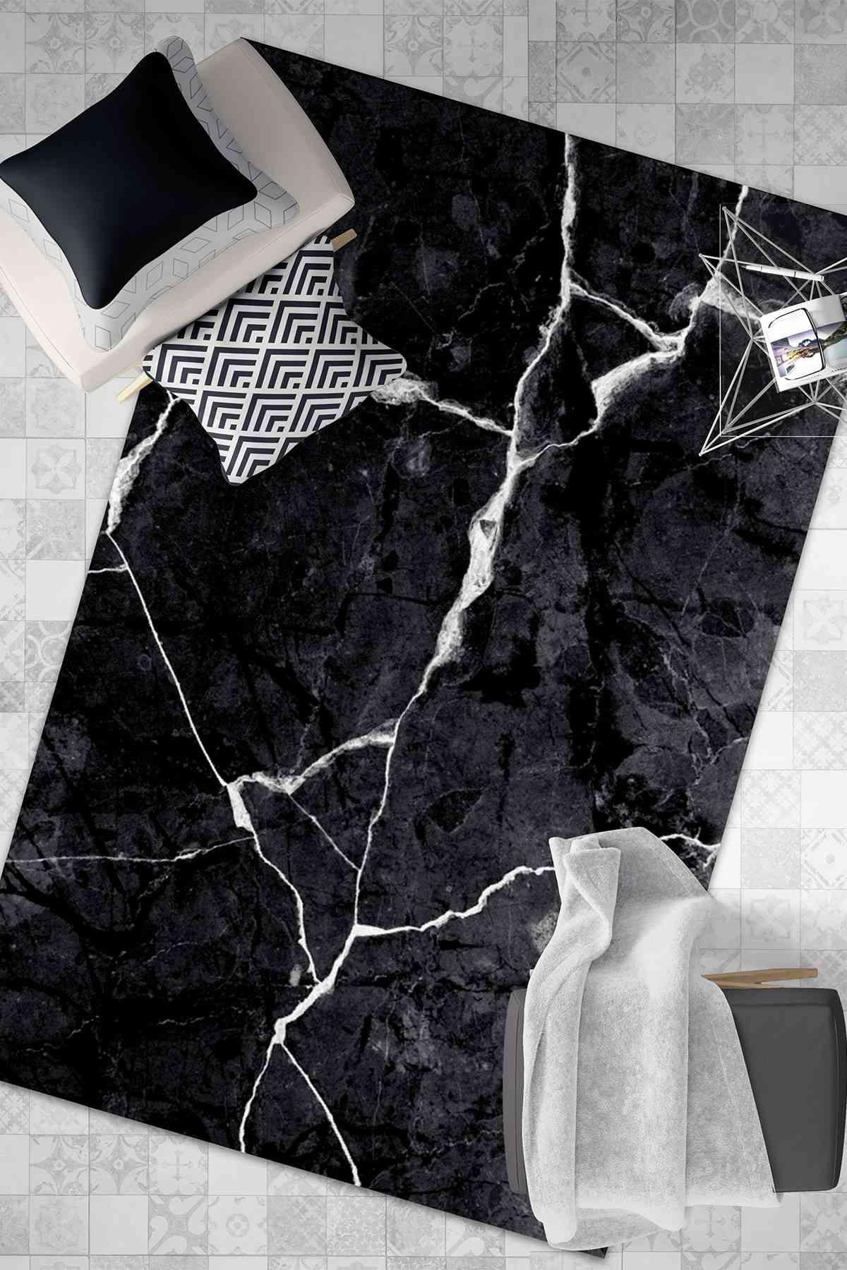 Granit Desen Yıkanabilir Halı